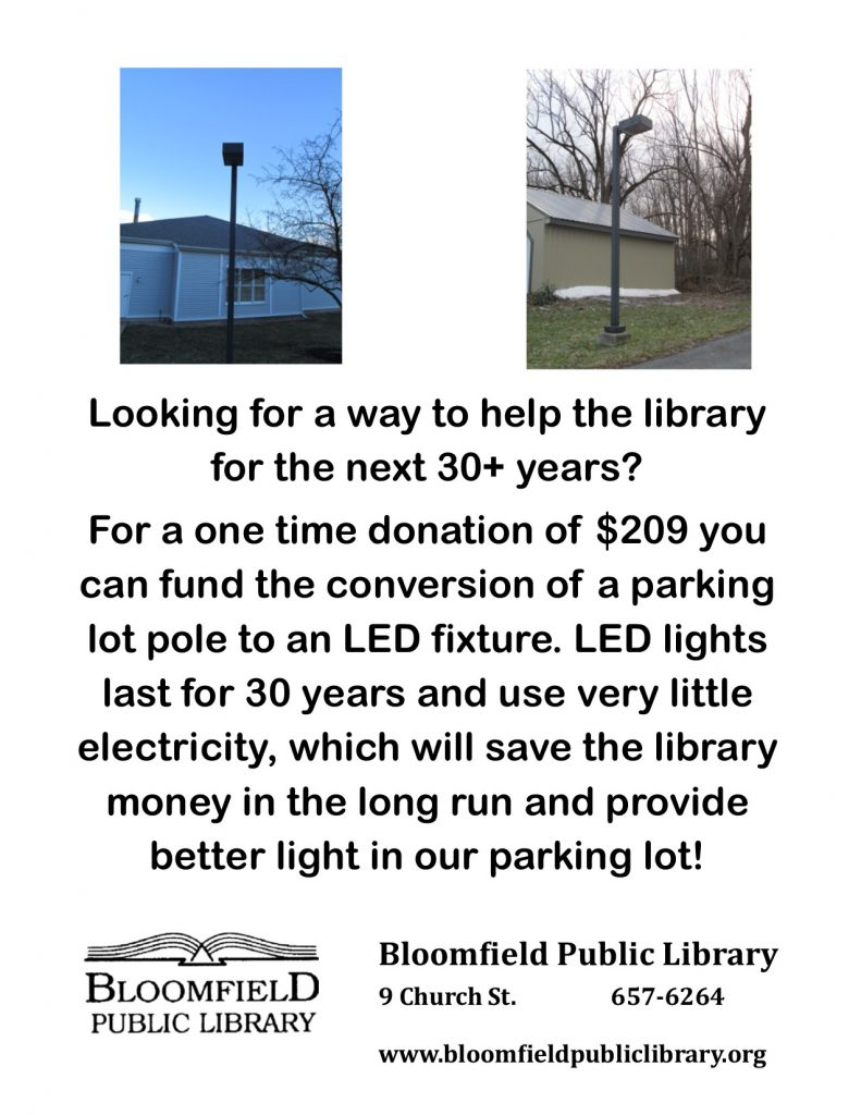 Make a 1 time donation that benefits the Library for years