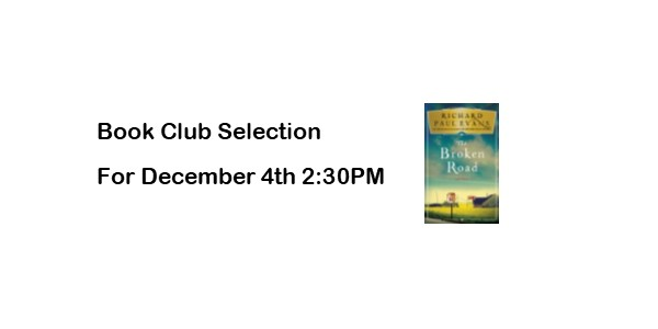 Book Club Selection for December 4th at 2:30PM