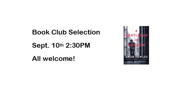 Book Club September 10th
