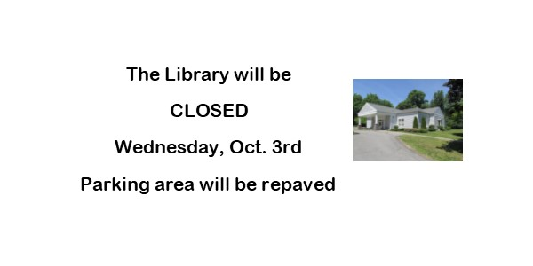 LIBRARY TO CLOSE FOR REPAVING