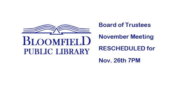 Board of Trustees changes meeting date for November