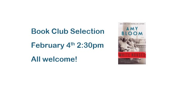Book Club Selection for Feb. 4th