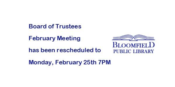 Board of Trustees Meeting Changed