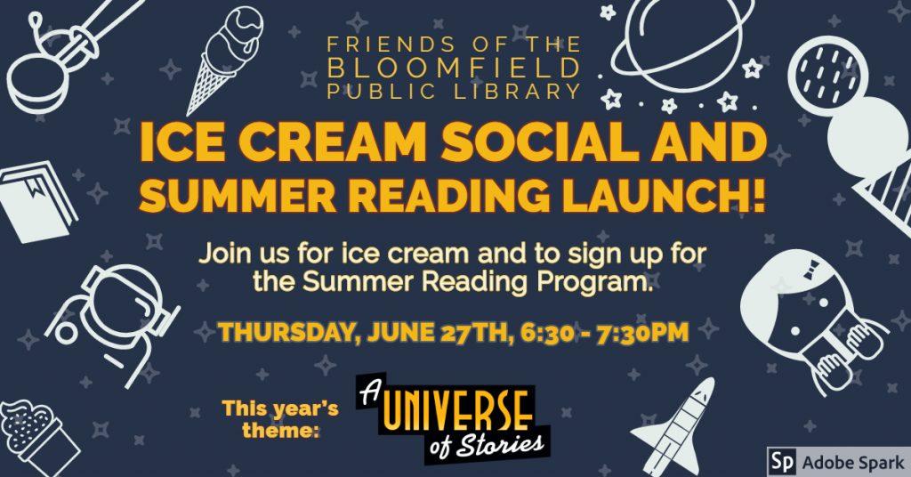 Ice Cream Social & Summer Reading Launch!