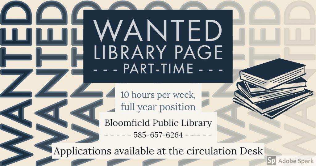 Help Wanted: Library Page