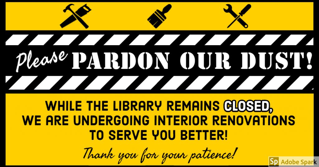 Renovations in progress at the library