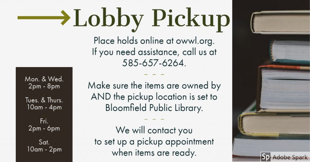 Lobby Pickup Service Now Available!